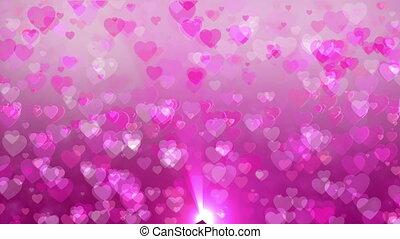 Graphic disco hearts