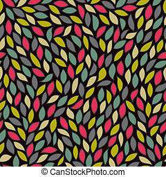 Abstract seamless pattern with colored leaves EPS 10 vector...