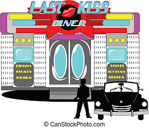 last kiss diner from the sixties with iconic name