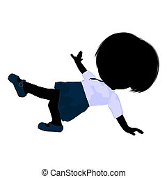 Little School Girl Illustration Silhouette - Little school...
