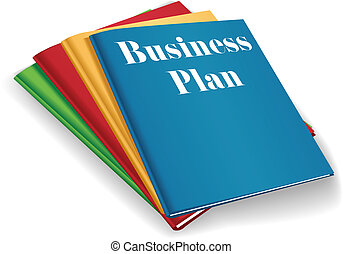 Business plan folder binders stack - Stack of plans for...