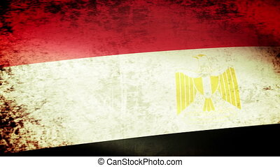 Egypt Flag Waving, grunge look