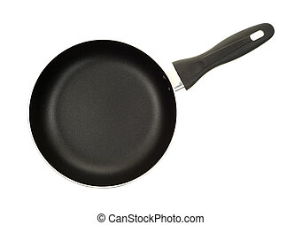 Top view non stick skillet - Top view of a non stick surface...