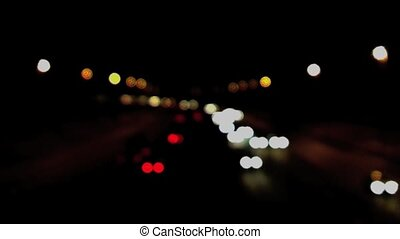 Traffic Blur Fast - Traffic on aUK motorway at night with a...