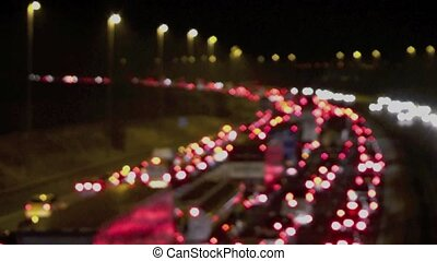 Traffic Blur 1 - Traffic on aUK motorway at night with a...