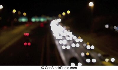 Traffic Blur - Traffic on aUK motorway at night with a blur...