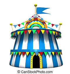 Illustration of a circus tent - Illustration of a blue...