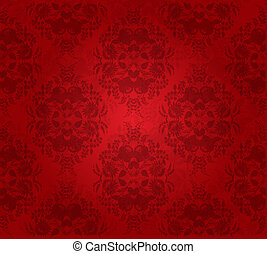 Abstract flower seamless background.