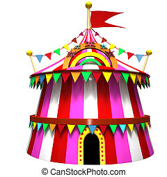 Illustration of a circus tent - Illustration of a pink...