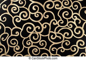Golden abstract arabesque - Golden abstract seamless...