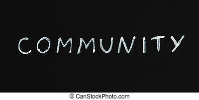 Community text conception - Community white text conception...