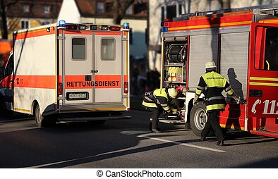 Ambulance and Firefighters