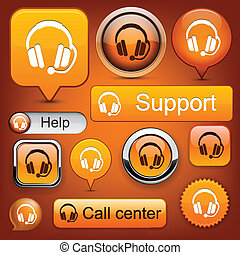 Support high-detailed modern buttons. - Support web orange...