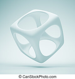 Design Element - 3d Illustration of Blue Design Element or...