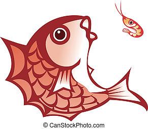 fish and shrimp - illustration