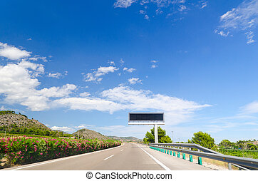 highway road - empty highway road in mountain landscape in...