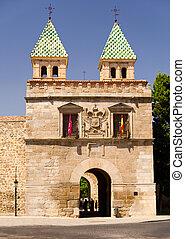 Puerta de Bisagra Nueva - The New Bisagra Gate at sunny day...