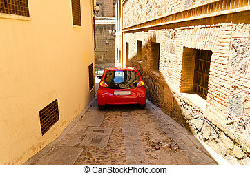 Toledo street view - street view at sunny day at Toledo,...