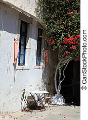 Traditional colors for Greek architecture