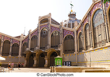 Mercado Central - view of central market at Valencia, Spain