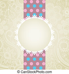 White lace frame greeting card
