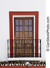Antequera - balcony in Antequera, Malaga, Spain