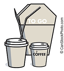 coffee and meal, to go