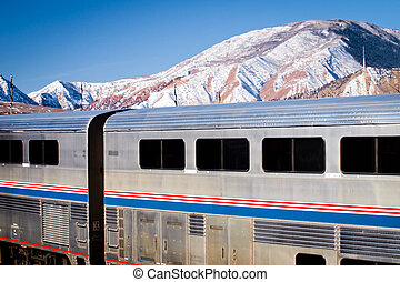 Passanger Train - Passanger train at the Glenwood Springs...
