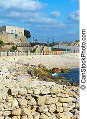 Caesarea - Caesarea?s National Park. Caesarea sea port,...