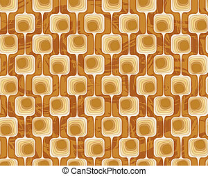 geometric seamless pattern wallpaper in terracotta tones