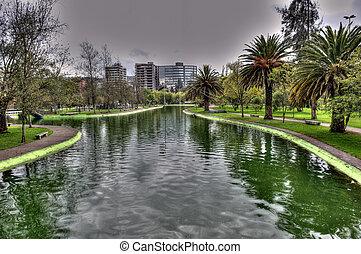 public gardens in Quito - views of the beautiful public...