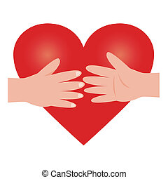 Illustration of heart - It supports it each other.