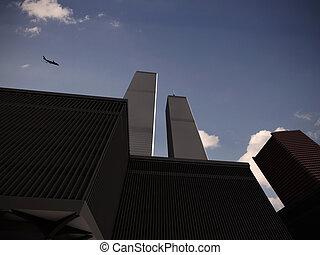world trade center under attack