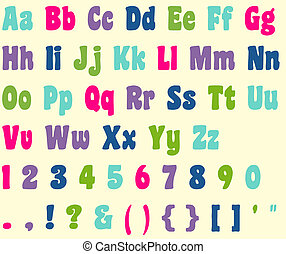 Colorful Alphabet Letters & Numbers