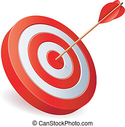 Target with arrow - Target with arrow on white background
