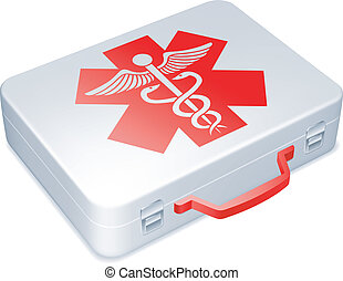 First aid kit - First aid kit on white background