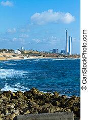 Caesarea - Power plant near Caesarea in Israel