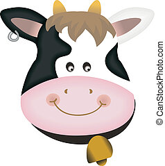 Adorable cow design, vector design, clip art