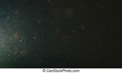 real flickering dust particles puls - This is a close up...