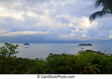 Costa Rica landscape - Early morning landscape picture on a...