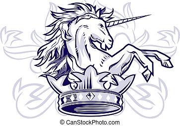 licorne, couronne