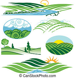 Rolling Green Hills - Clip art collection of hills and...