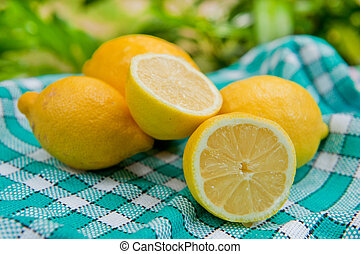Fresh lemon - Still life with fresh lemon