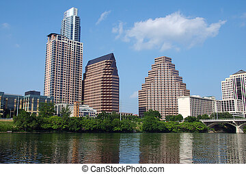 Austin, Texas - Downtown Austin from Lady Bird Lake