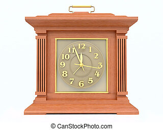 3D Old-Fashioned Clock