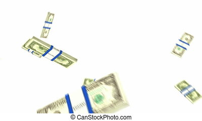 US dollar bundles flow with slow motion Wealth and money