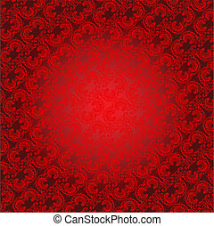 Red Ornament Background