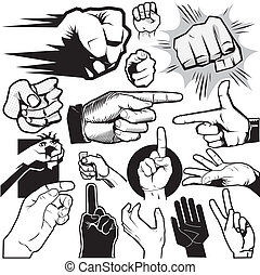 Hand Collection - Clip art collection of hands and gestures