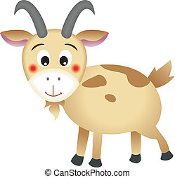 Goat - The mountain goat vector design (clip art).