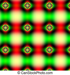 Traffic light abstract pattern - With mostly stop and go...